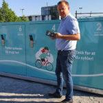 Låsbare sykkelskap til Grenland